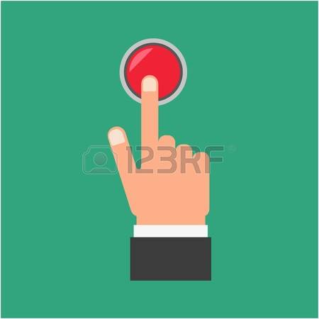 Button clipart hand. Press pencil and in
