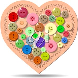 Button clipart heart. Illustration of a