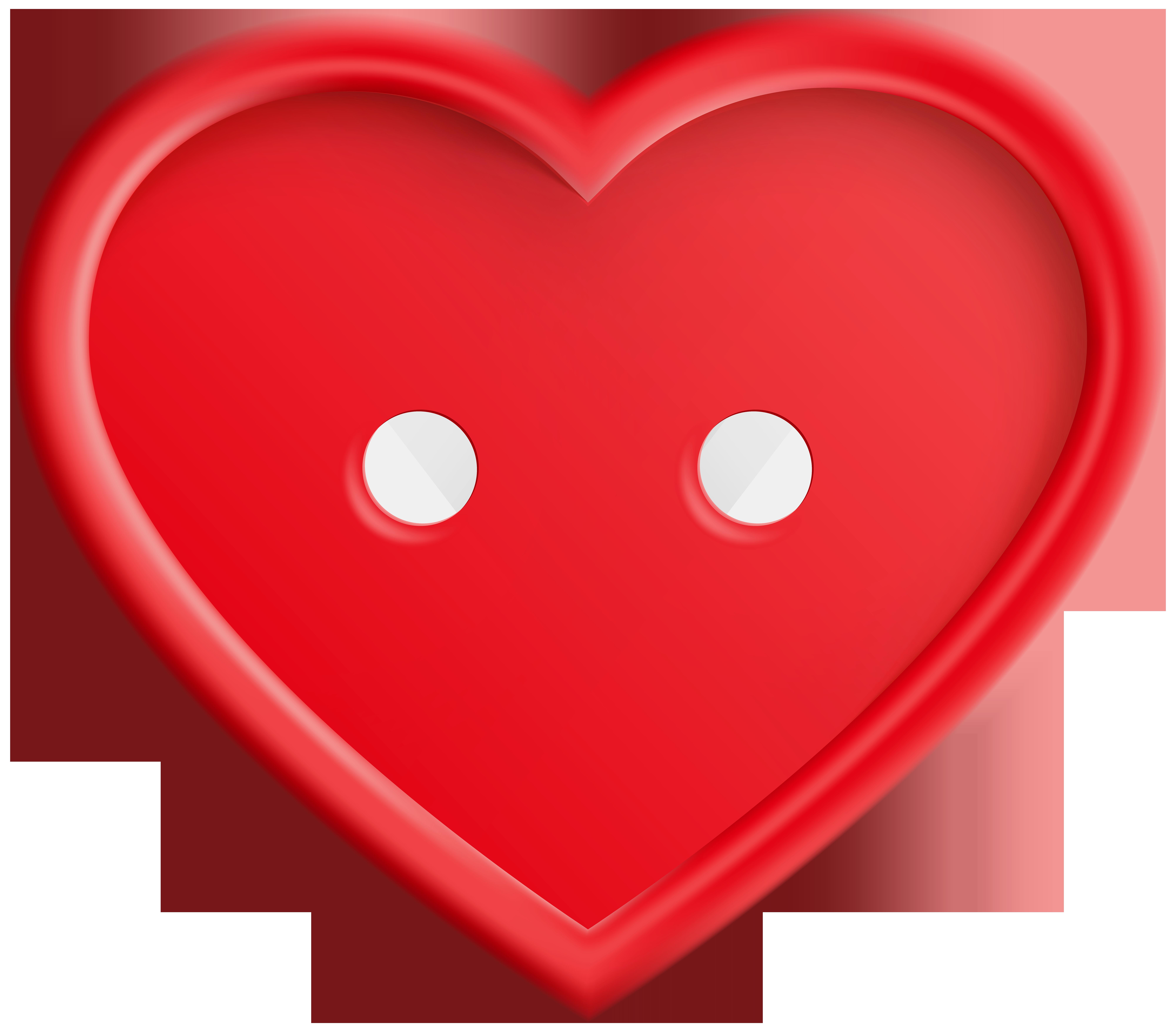 Red png clip art. Button clipart heart