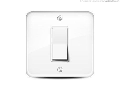 Free icon and vector. Button clipart light switch