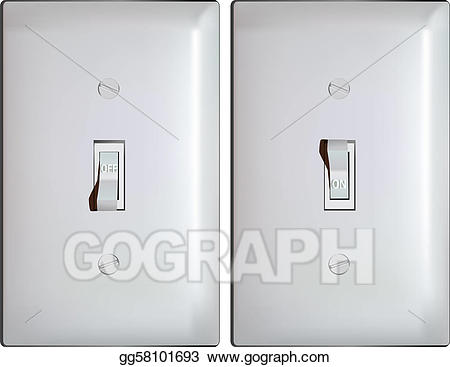 Vector electric in on. Button clipart light switch