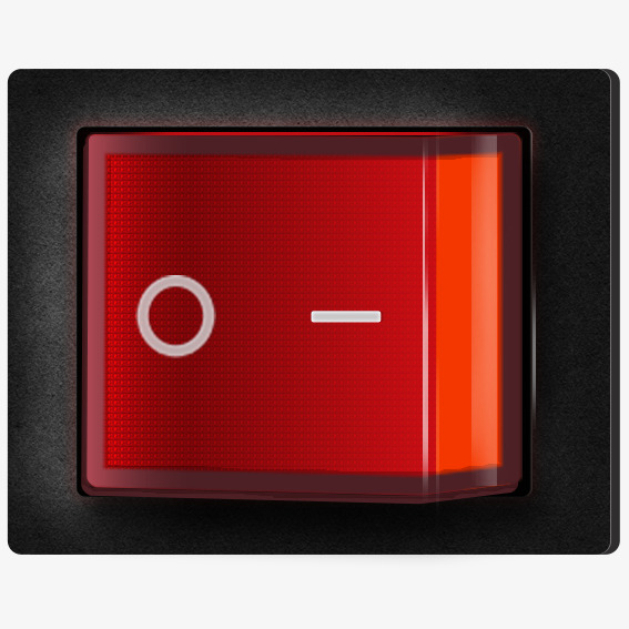 Simple electrical switches push. Button clipart light switch