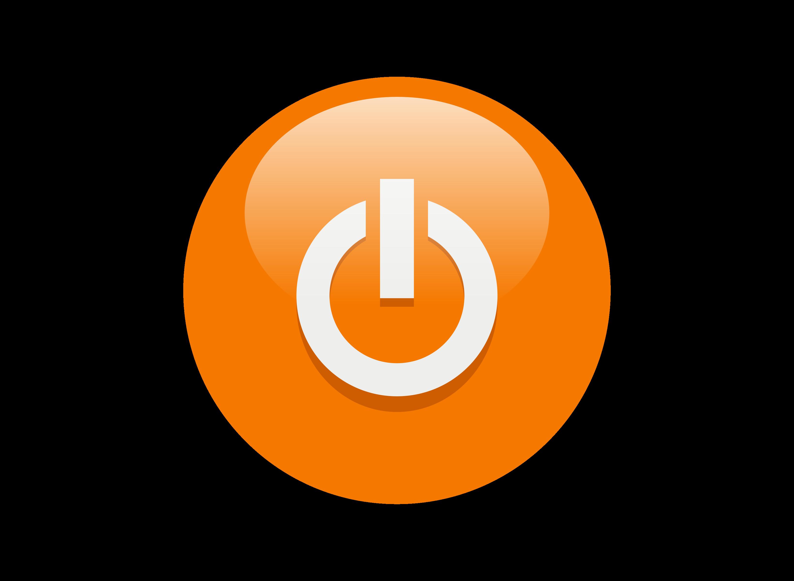 Button clipart orange button. Multicolor power buttons big