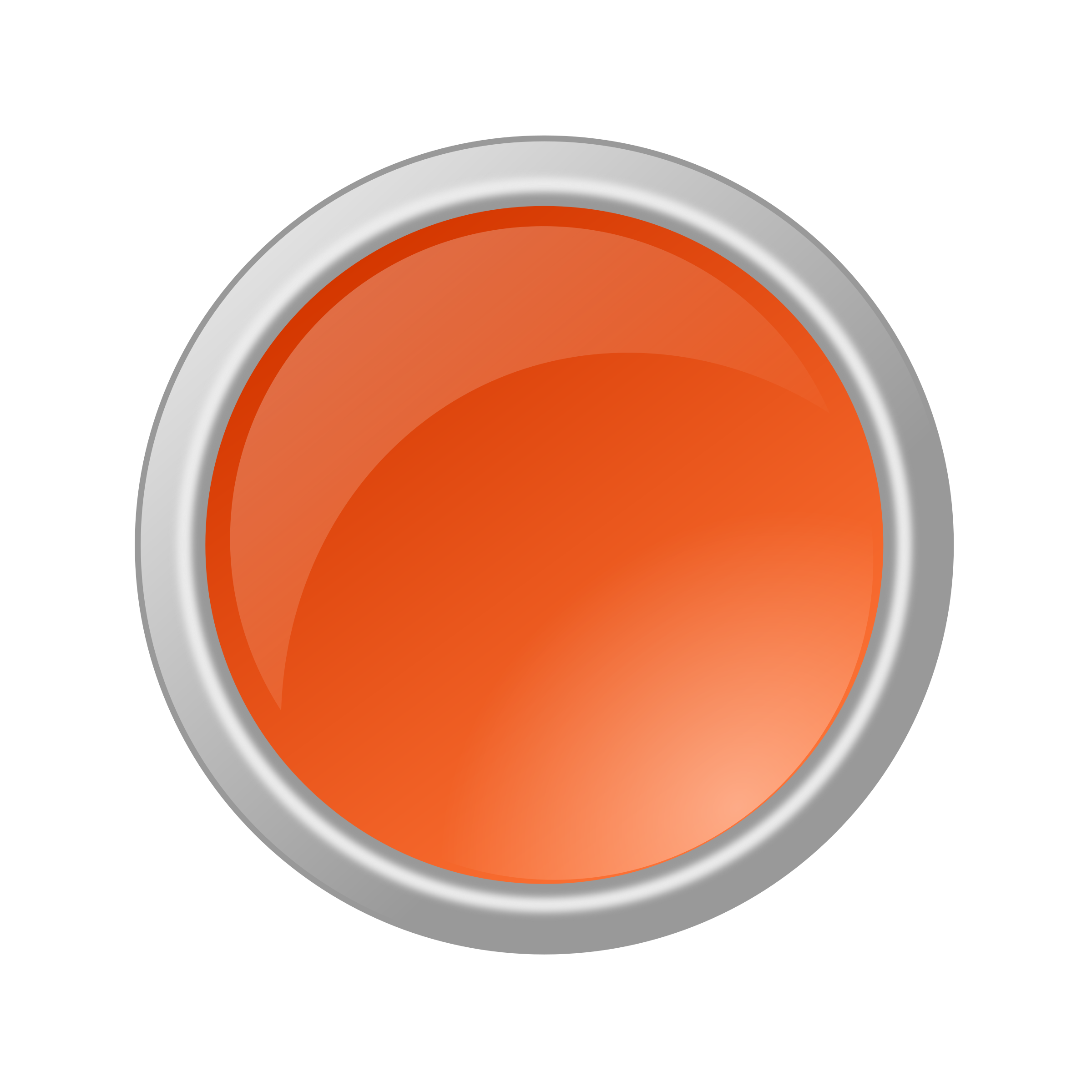 Glossy big image png. Button clipart orange button