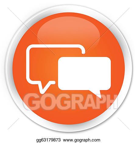 Button clipart orange button. Stock illustration testimonials icon