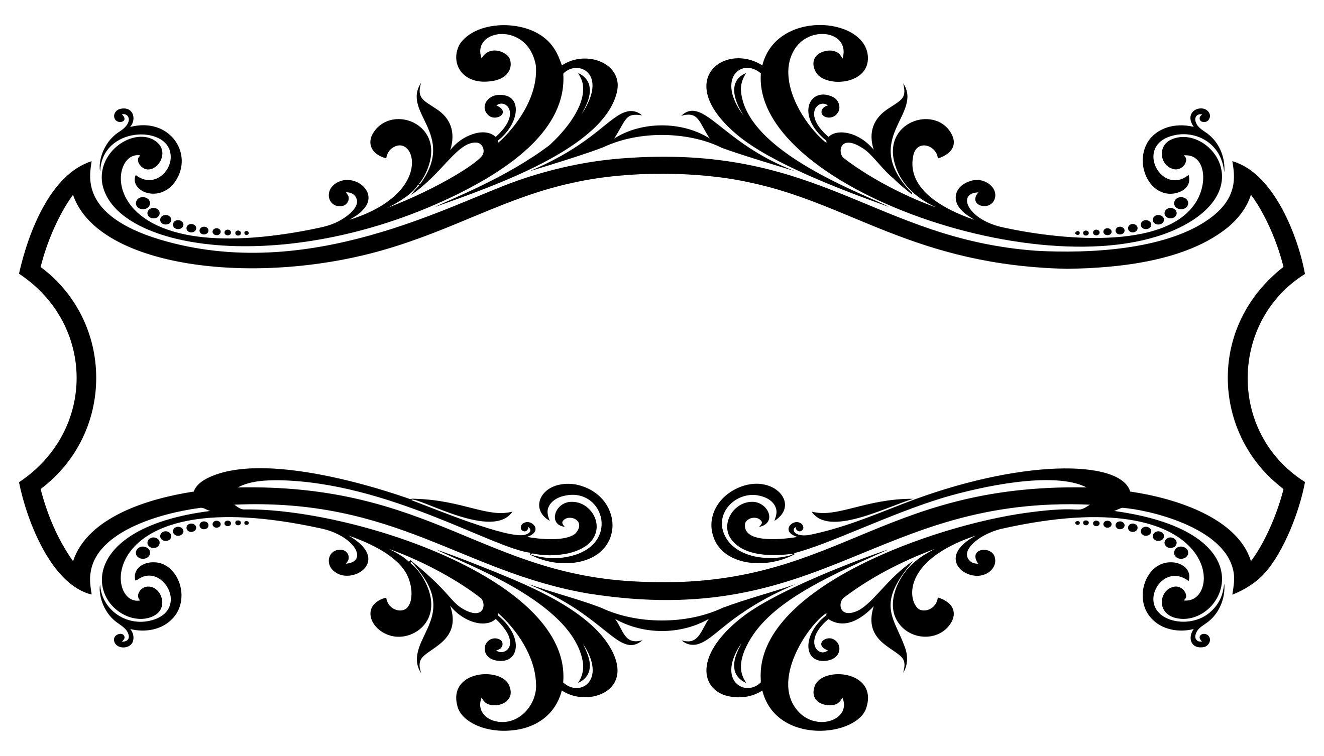 Decorative flourish frame design. Button clipart ornamental