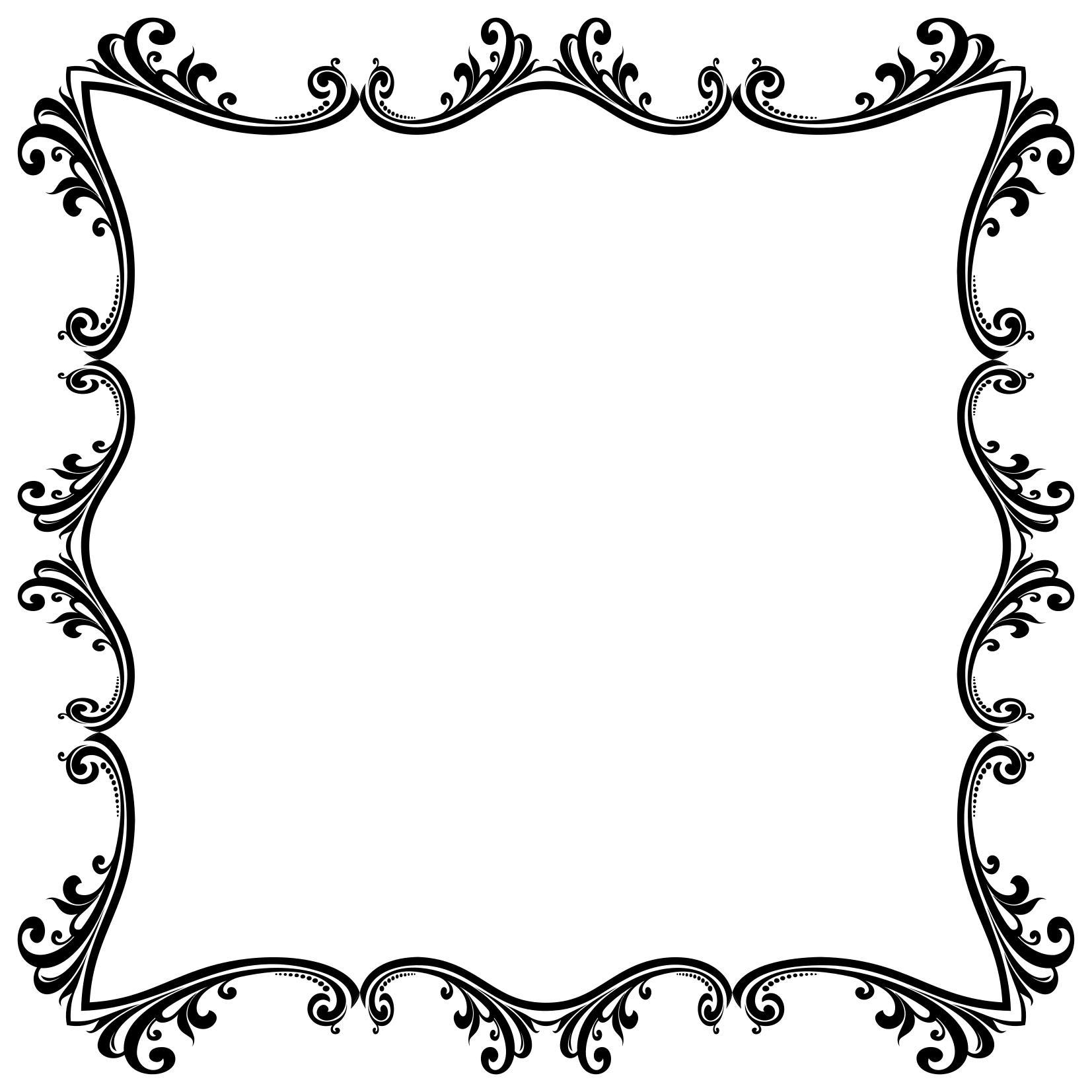 Button clipart ornamental. Decorative flourish frame aggrandized