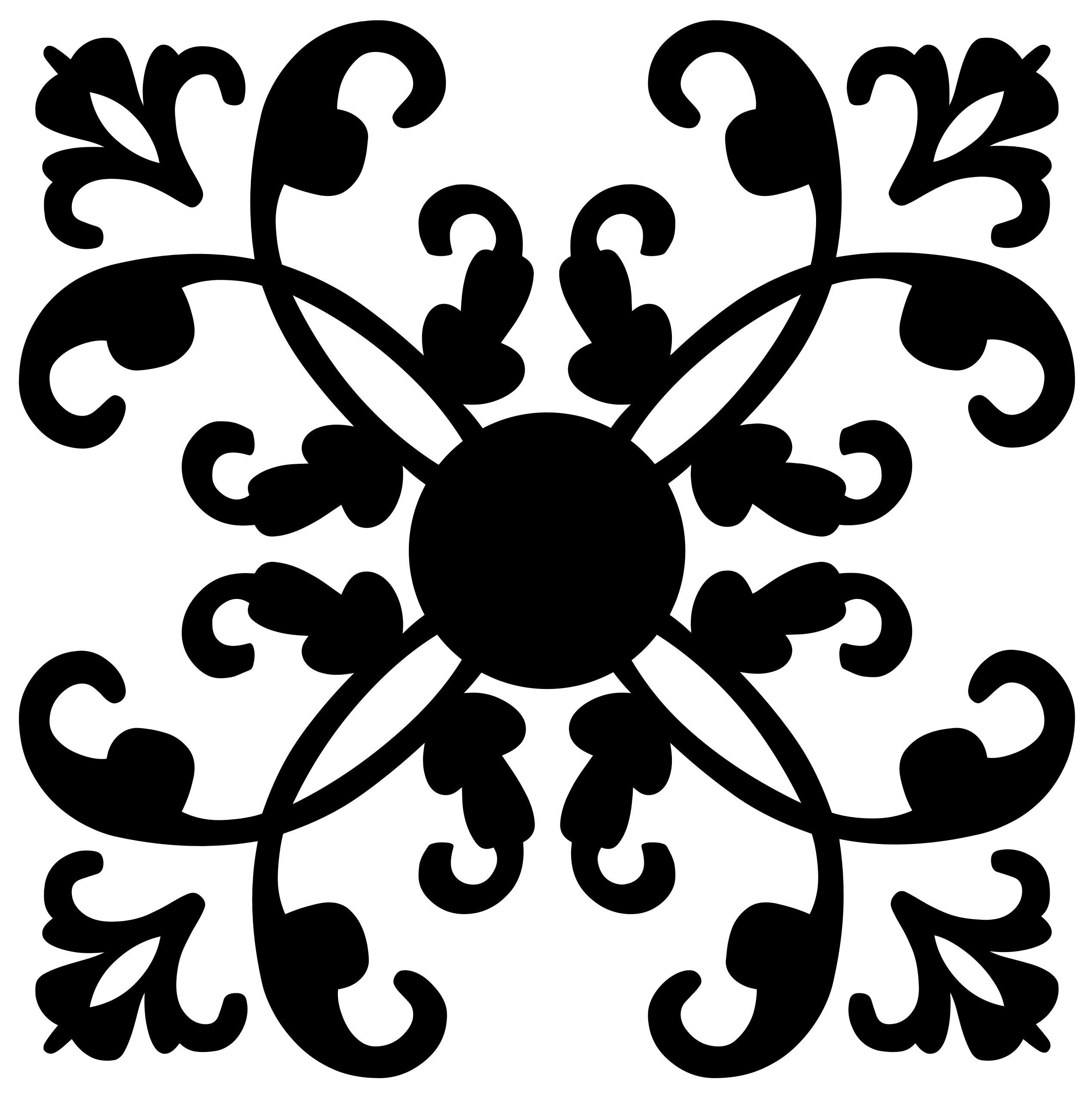Flourish design silhouette droide. Button clipart ornamental