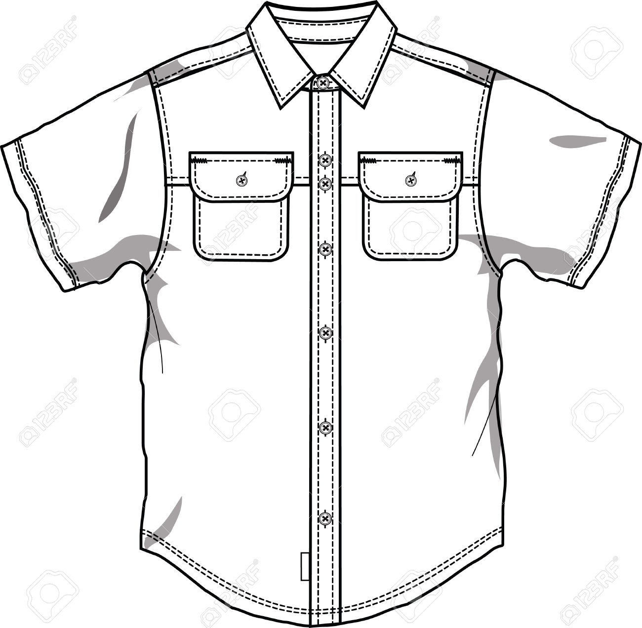 Shirt drawing at getdrawings. Button clipart outline