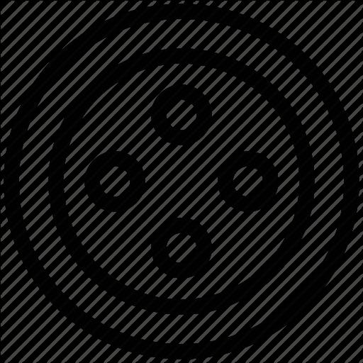 button clipart outline