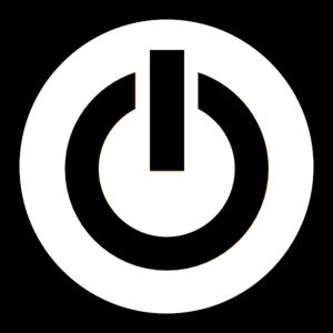 . Button clipart power