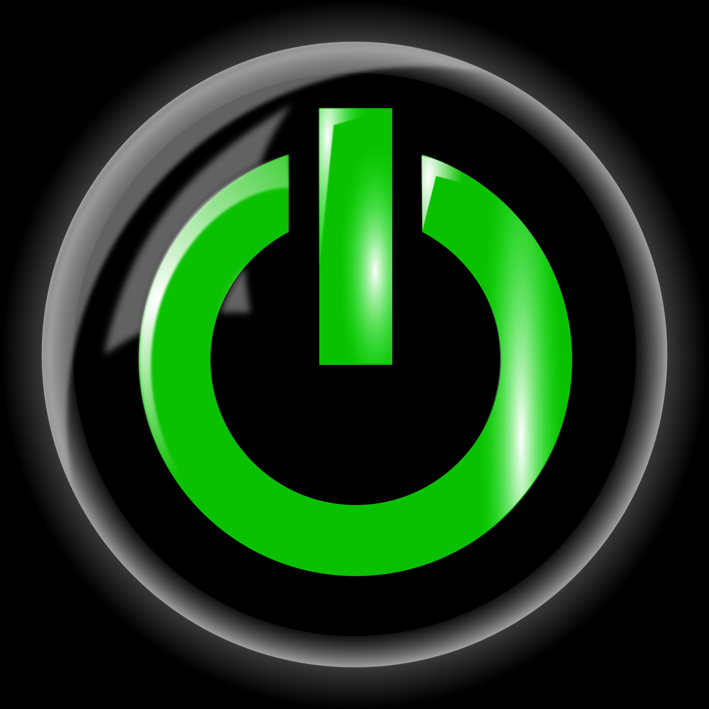 Button clipart power. Black big image png