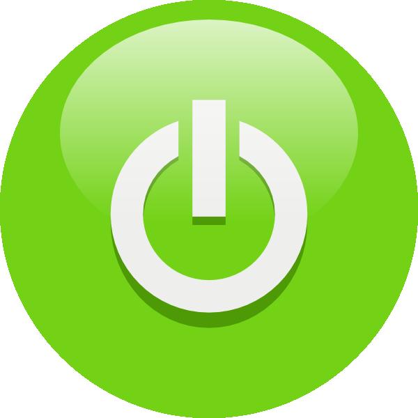 Green button clip art. Cool clipart power