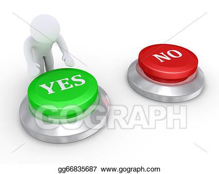 Button clipart press. Stock illustration person pressing