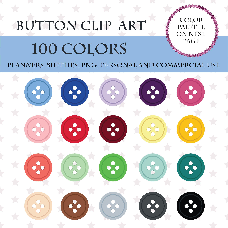 Button clipart printable.  colors clip art