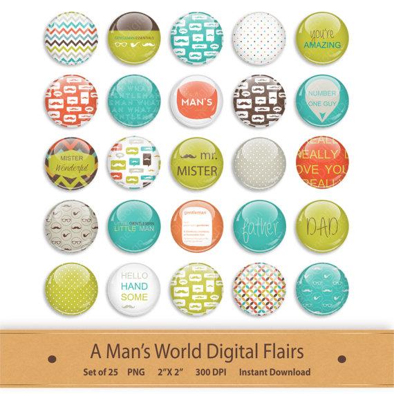Button clipart printable. Digital flair scrapbooking add