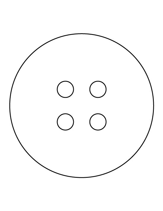 Pattern use the outline. Button clipart printable