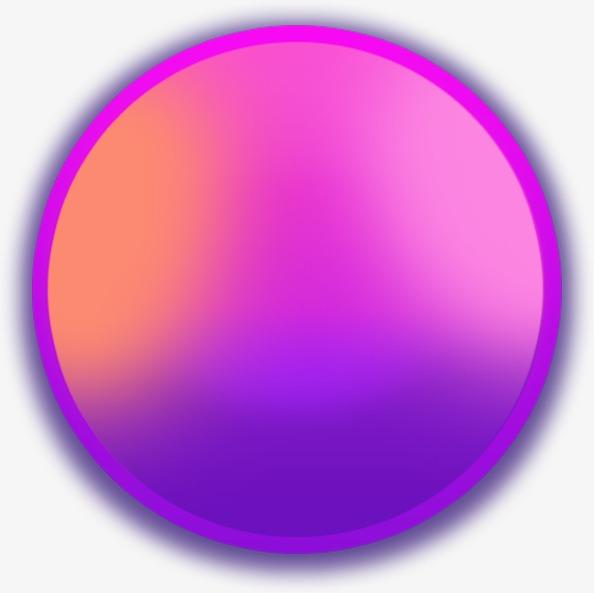 Circle gradient bubble push. Button clipart purple button