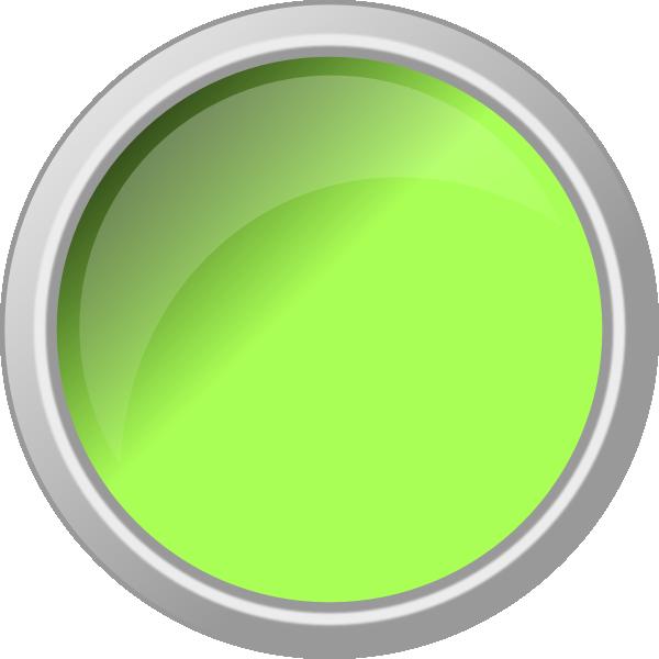 Glossy green clip art. Button clipart push button