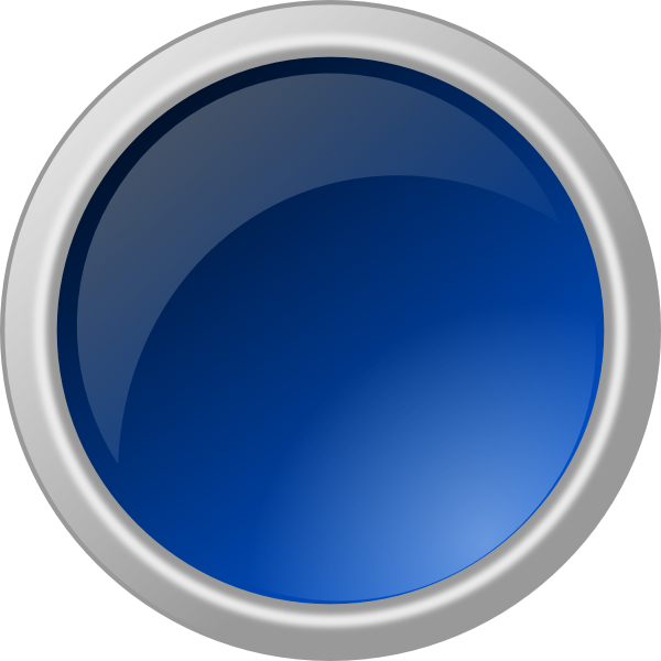 Button clipart push button. Glossy blue clip art