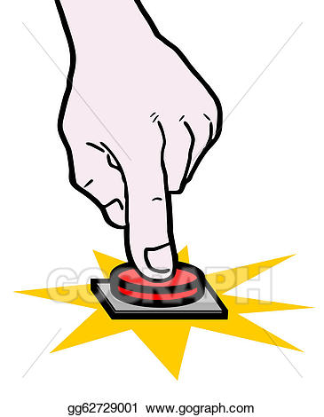 Button clipart push button. Stock illustration hand drawing