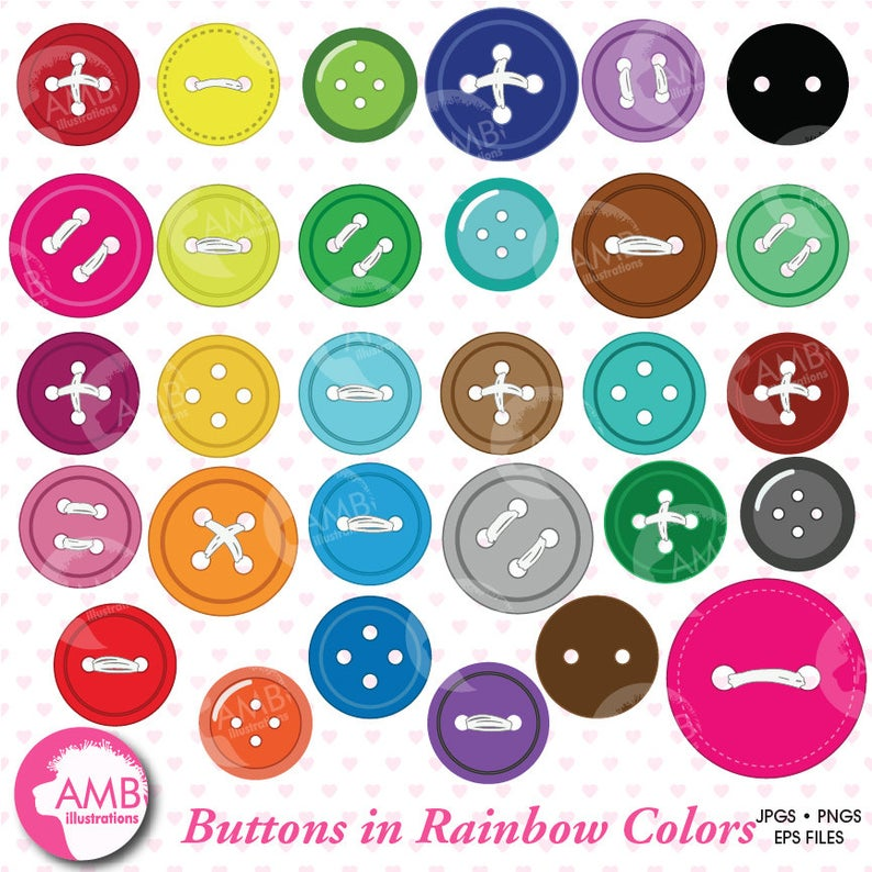 Button clipart sewing button. Buttons for your scrapbooking