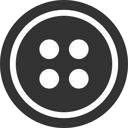 Black with hole png. Button clipart sewing button