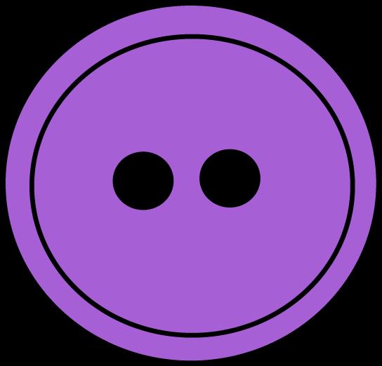 Purple clip art image. Button clipart sewing button