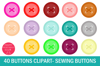 Button clipart sewing button.  scrapbook buttons