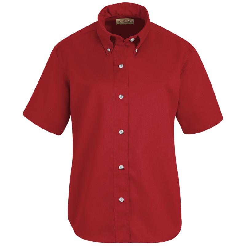 Button clipart shirt. Red kap women s