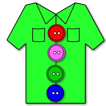 And clip art pack. Button clipart shirt