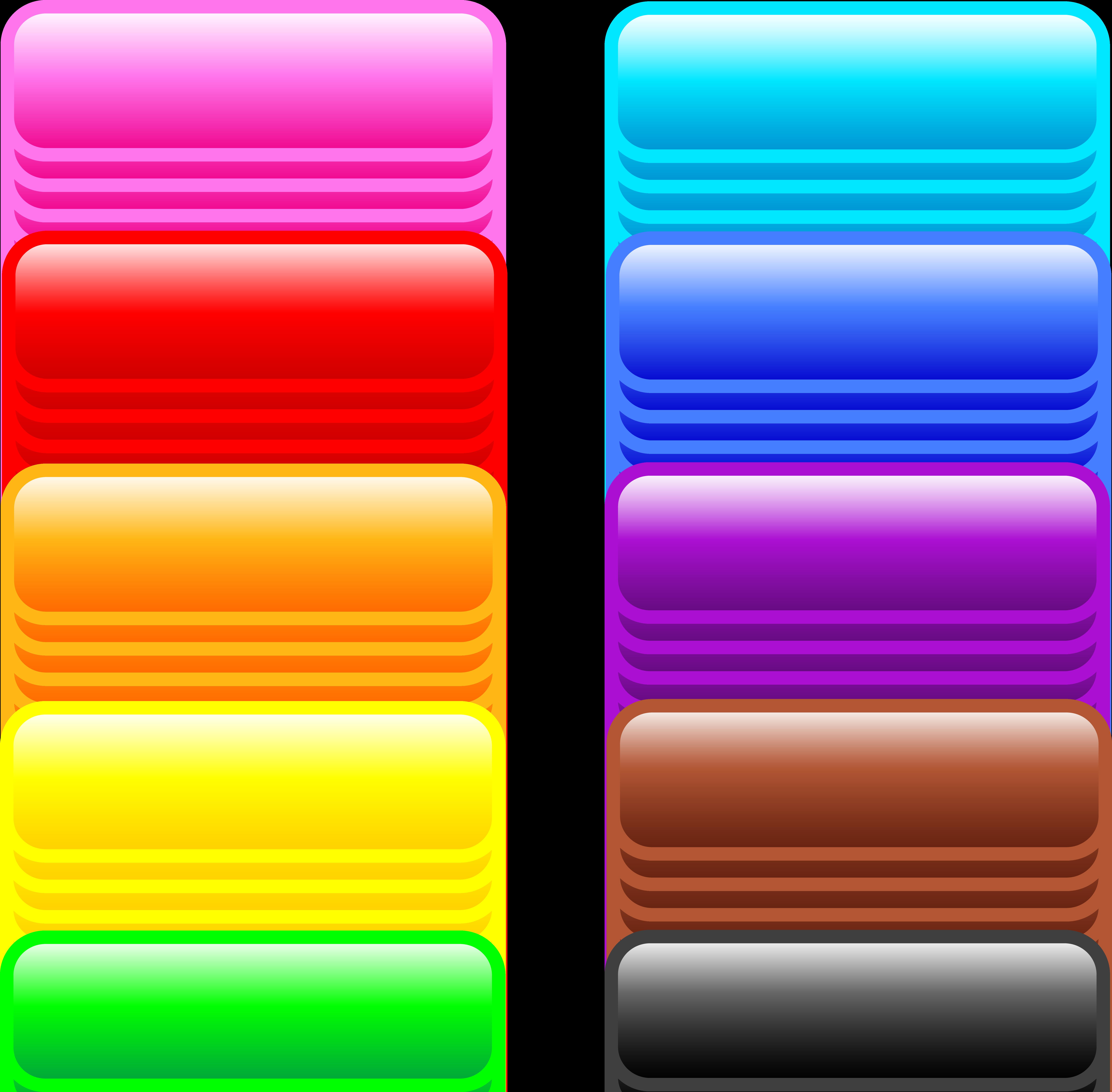 Ten glossy rectangle web. Button clipart website