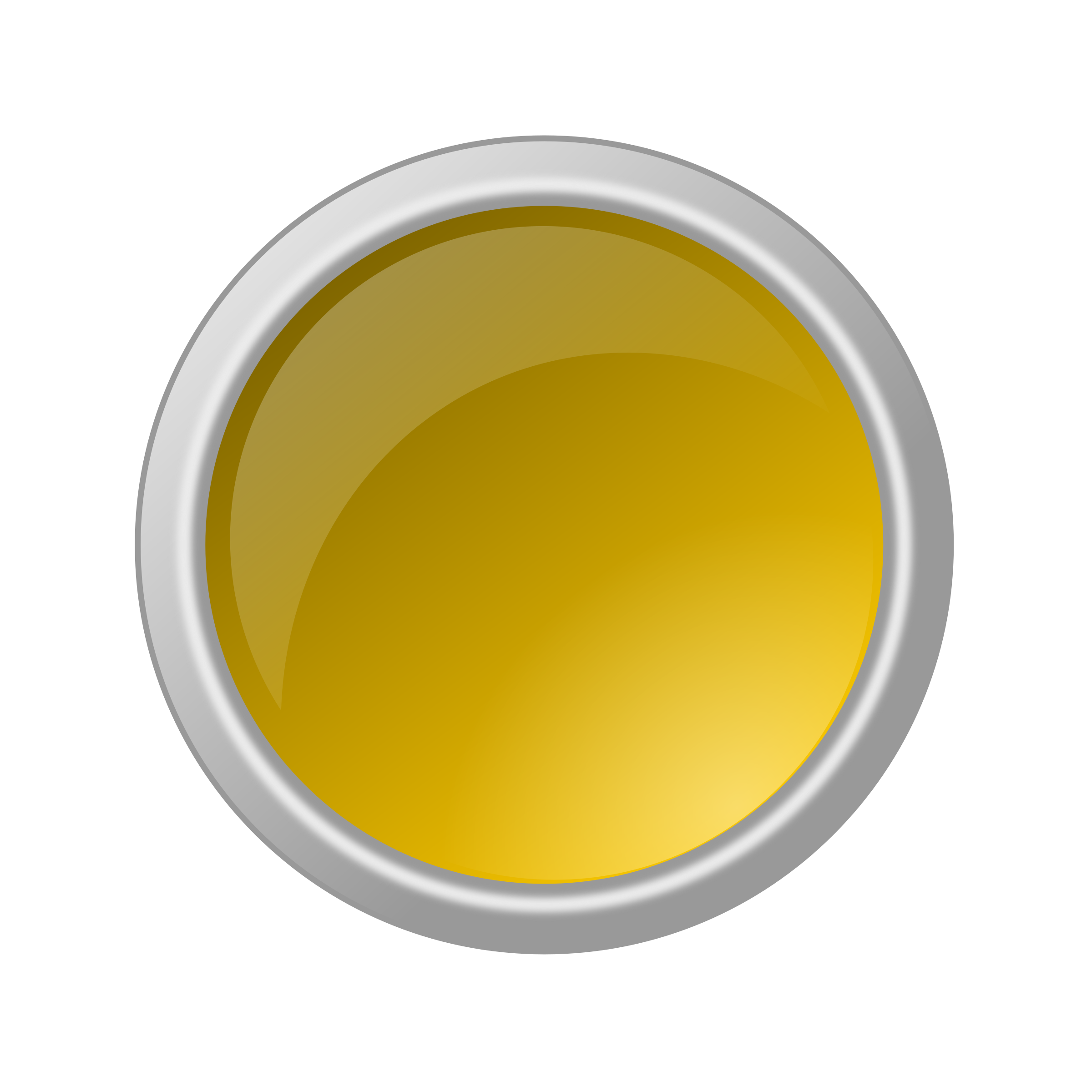 Button clipart yellow button. Glossy big image png
