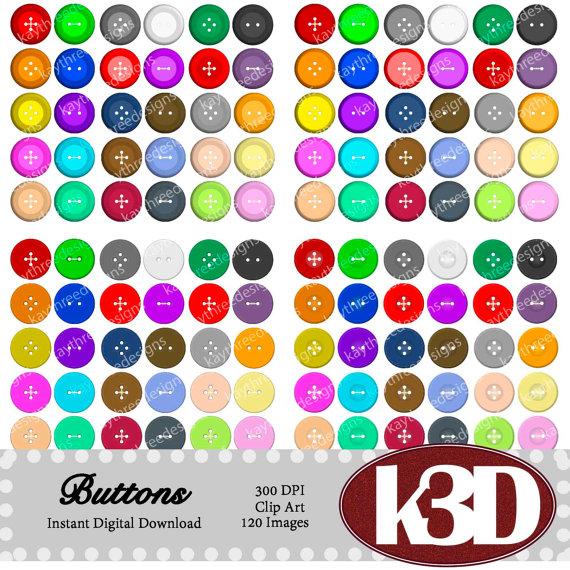 Buttons clipart clip art. Instant digital download images