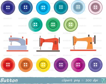 Buttons clipart clip art. Button etsy sewing machine