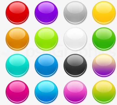 Ui color circular shape. Button clipart colored button
