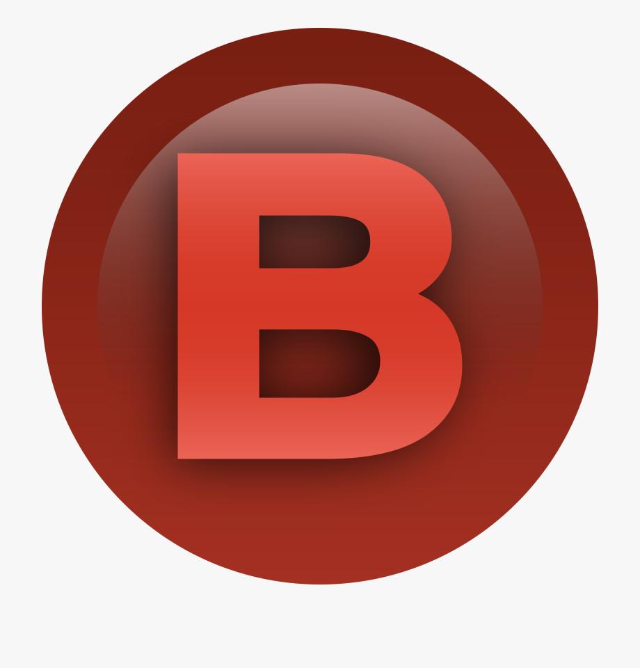 Xbox button b icon. Buttons clipart file
