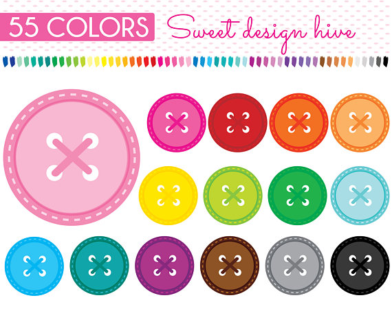 Button sew sewing clip. Buttons clipart icon