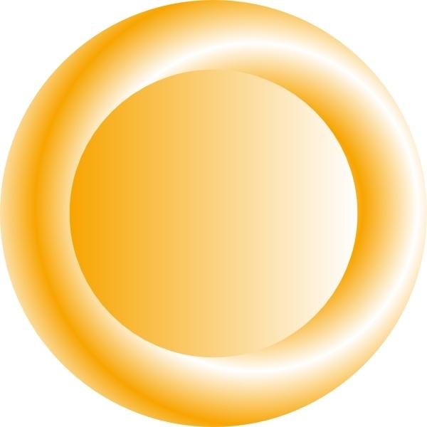 Orange circular clip art. Button clipart ornamental