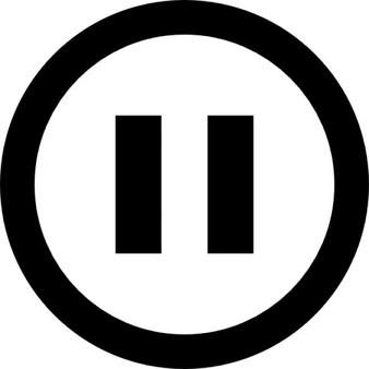 Pause button vectors photos. Buttons clipart outline
