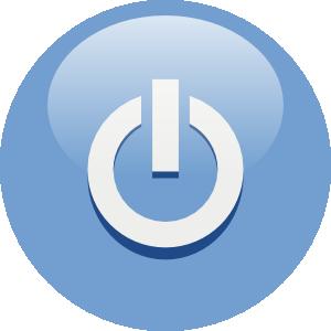 Button clipart power. Blue clip art at