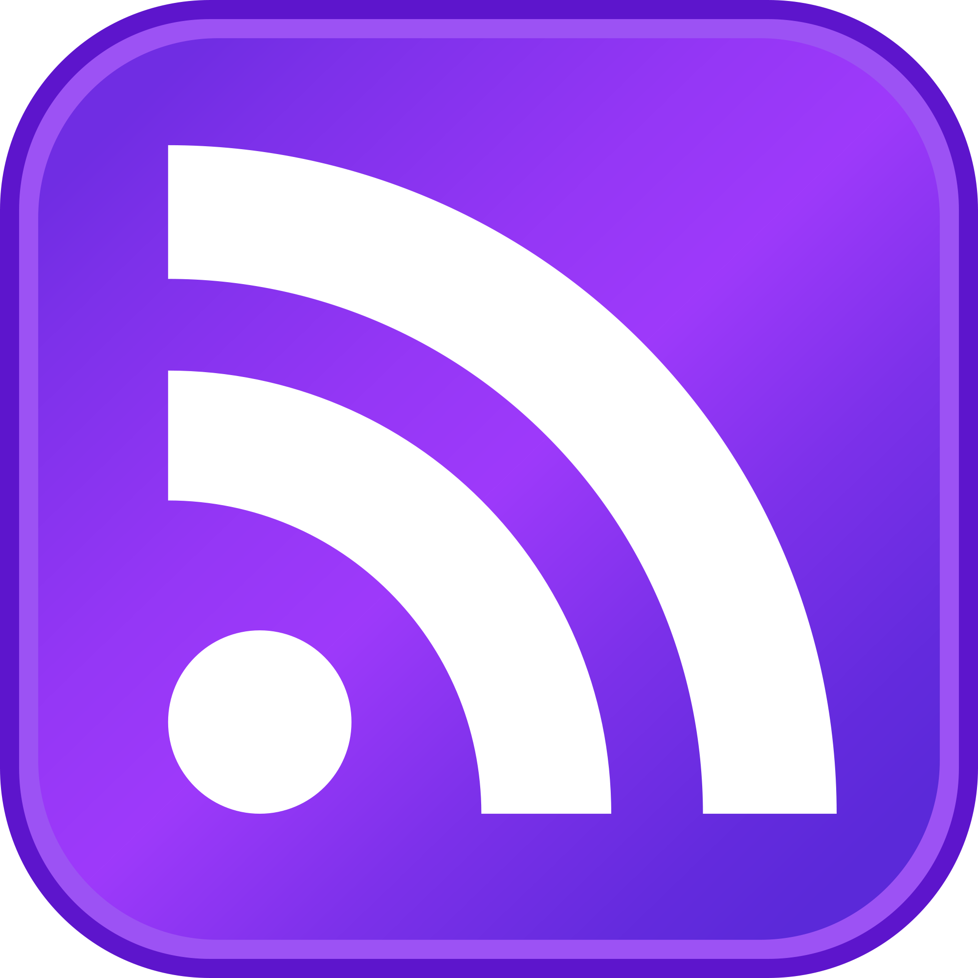 Rss feed software by. Buttons clipart purple button