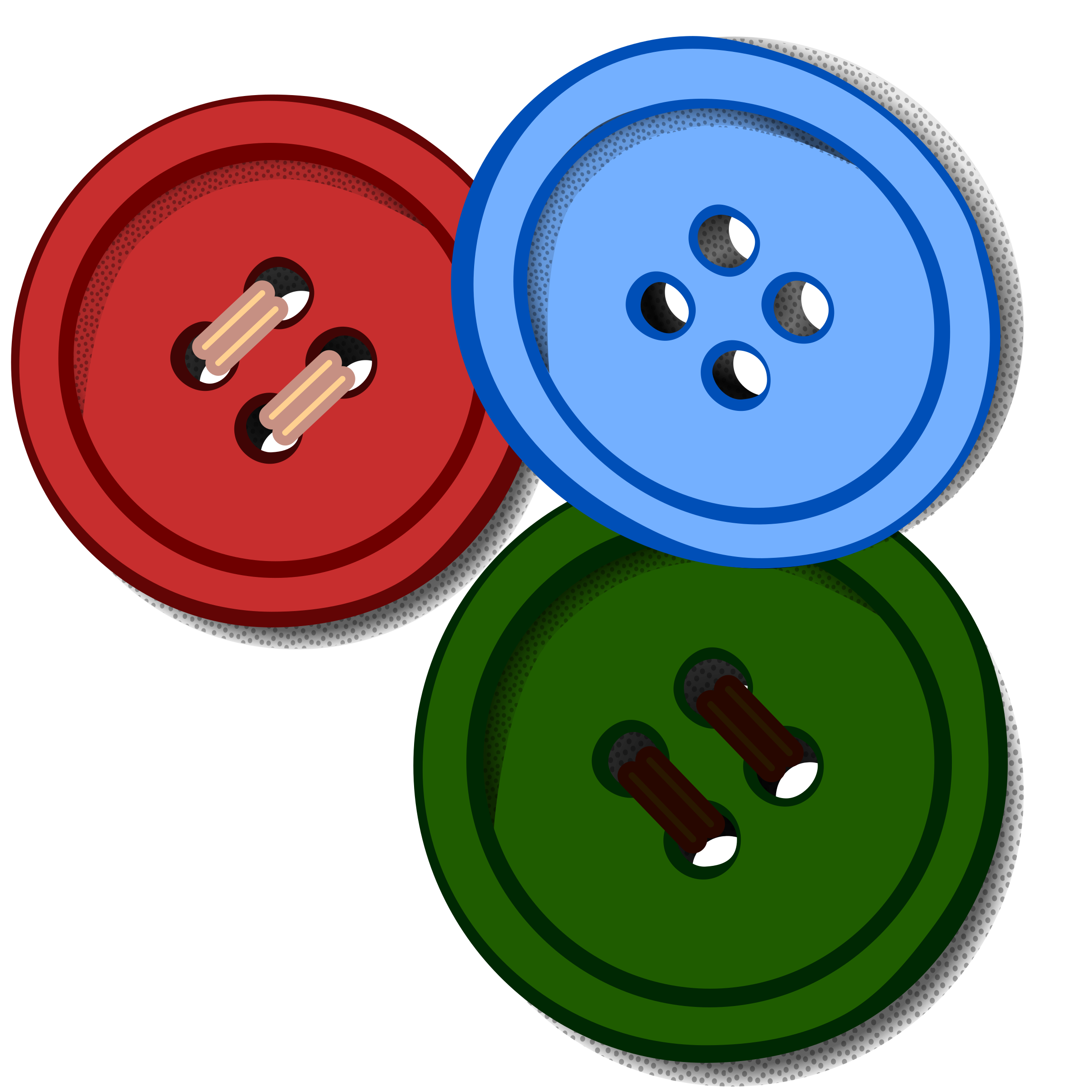 Buttons coloured big image. Button clipart
