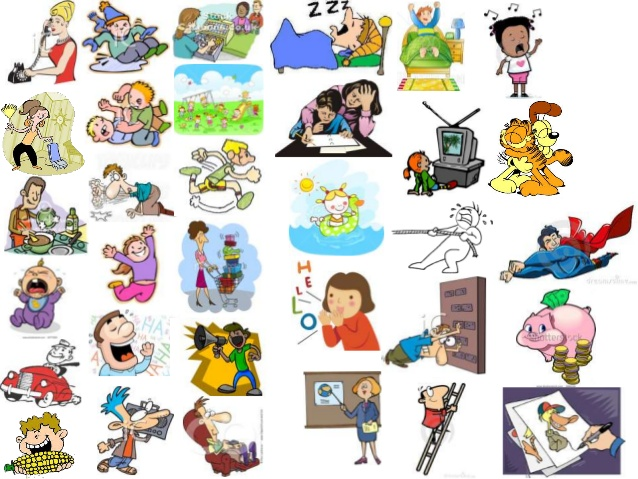 Buy clipart action verbs. Vocabulary verb call hit