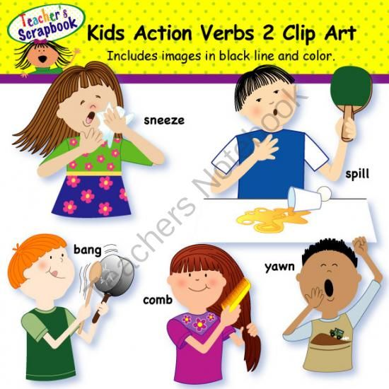 Action clipart action word.  best spl images