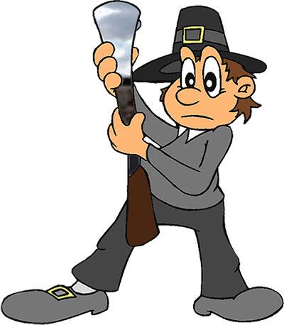 Hunter clipart thanksgiving. Free animations graphics pilgrim