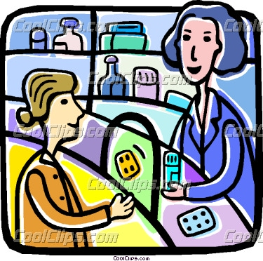 Woman buying medication panda. Buy clipart average person
