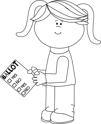 Buy clipart black and white. Voting clip art images