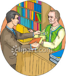 Buy clipart bookseller.  collection of books