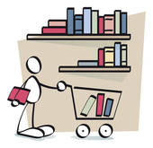collection of books. Buy clipart bookseller
